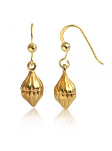 Eucalyptus Bud Earring Sterling Silver Yellow Gold Plated